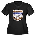 USS FRANCIS Women's Plus Size V-Neck Dark T-Shirt