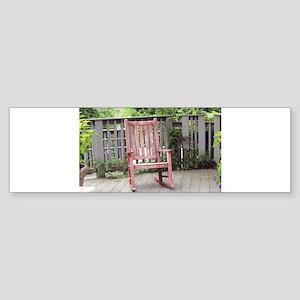 Red Rocking Chair Sticker (Bumper)