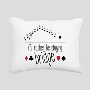 id rather be playing bridge Rectangular Canvas Pil