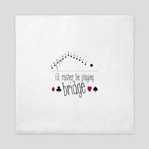 id rather be playing bridge Queen Duvet
