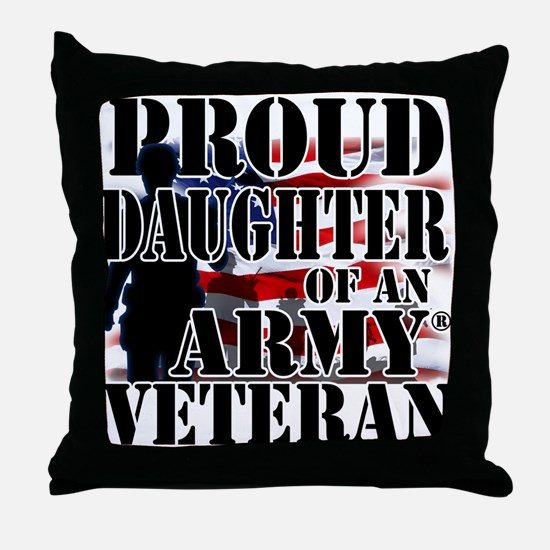 ProudDaughter Throw Pillow