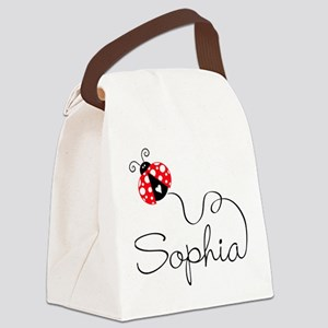 Ladybug Sophia Canvas Lunch Bag