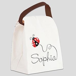 Ladybug Sophia Canvas Lunch Bag
