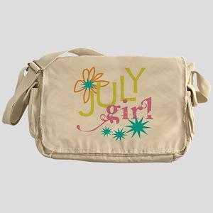 July Birthday Girl Messenger Bag