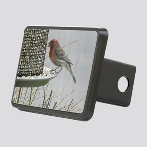 Purple Finch at the feeder Rectangular Hitch Cover