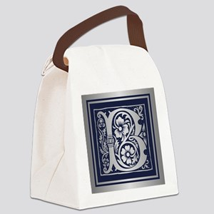 Romanesque Monogram B Canvas Lunch Bag