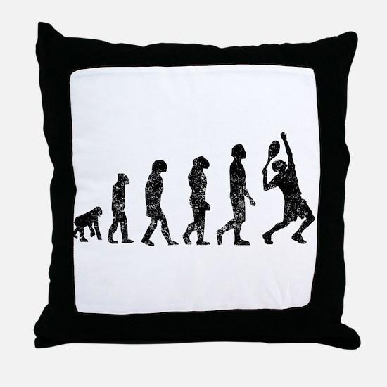 Distressed Tennis Evolution Throw Pillow