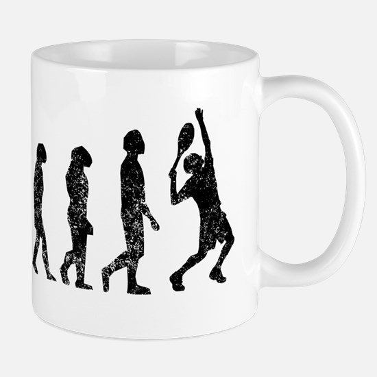 Distressed Tennis Evolution Mugs