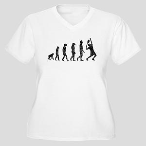 Distressed Tennis Evolution Plus Size T-Shirt