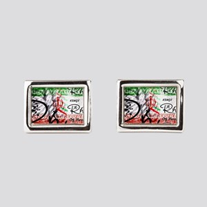 RightOn Kings of Persia Rectangular Cufflinks