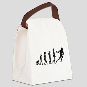 Distressed Lacrosse Evolution Canvas Lunch Bag