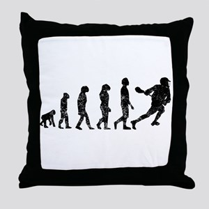 Distressed Lacrosse Evolution Throw Pillow