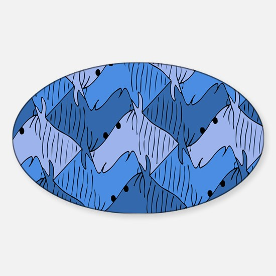 Funny Tessellation Sticker (Oval)