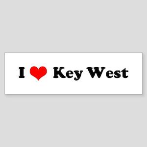 I Love Key West Bumper Sticker