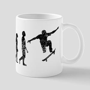 Distressed Skateboarding Evolution Mugs