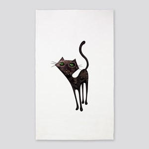 Black Mexican Cat 3'x5' Area Rug