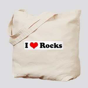I Love Rocks Tote Bag