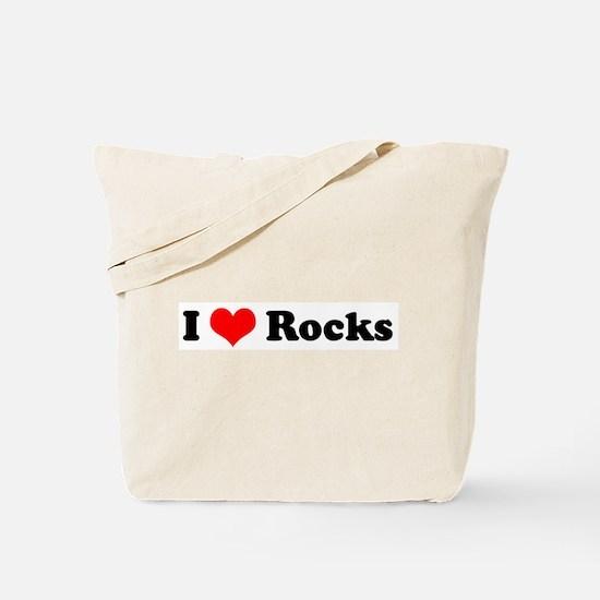I Love Rocks Tote Bag
