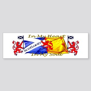 Heart and soul Scotland lions Bumper Sticker