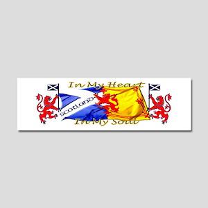 Heart and soul Scotland lions Car Magnet 10 x 3