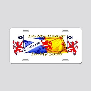 Heart and soul Scotland lions Aluminum License Pla