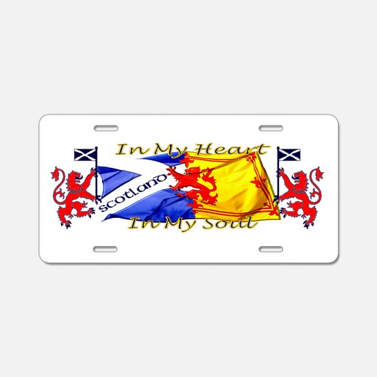 Heart and soul Scotland lions Aluminum License Pla