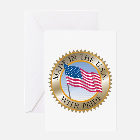 MADE IN THE USA SEAL! Greeting Cards