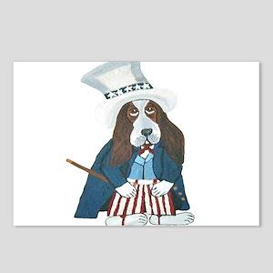 BBasset Hound Uncle Sam Postcards (Package of 8)