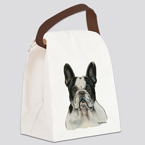 PiedFrenchie Canvas Lunch Bag