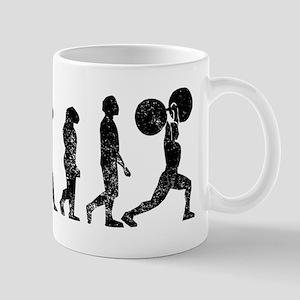 Distressed Weightlifting Evolution Mugs