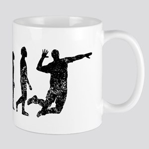 Distressed Volleyball Evolution Mugs