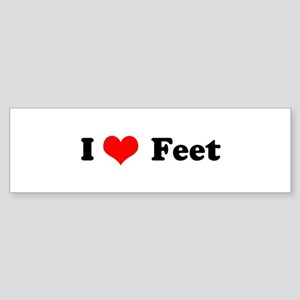 I Love Feet Bumper Sticker