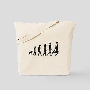 Distressed Basketball Evolution Tote Bag