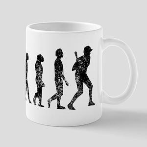 Distressed Baseball Evolution Mugs