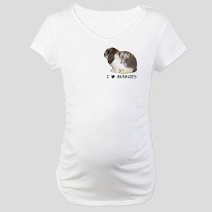 """I love bunnies 1"" Maternity T-Shirt"