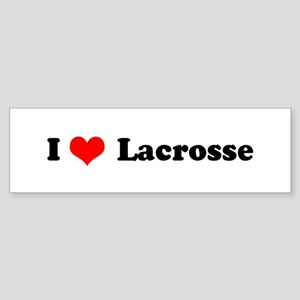 I Love Lacrosse Bumper Sticker