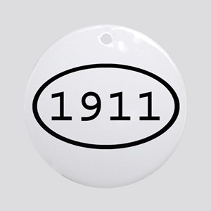 1911 Oval Ornament (Round)