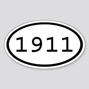 1911 Oval Oval Sticker