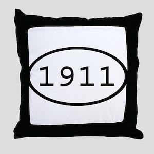 1911 Oval Throw Pillow