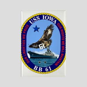 Uss Iowa Bb-61 Magnets