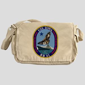 USS Iowa BB-61 Messenger Bag