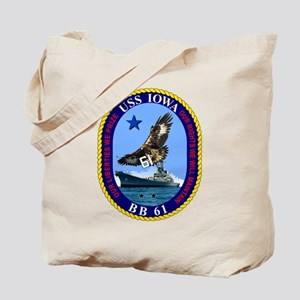 Uss Iowa Bb-61 Tote Bag