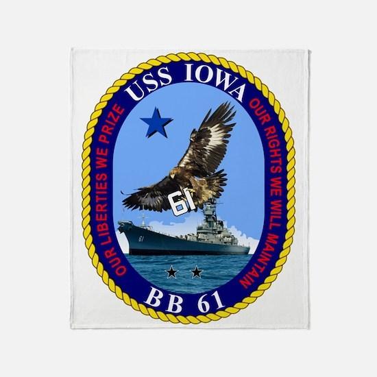 Uss Iowa Bb-61 Throw Blanket
