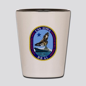 USS Iowa BB-61 Shot Glass