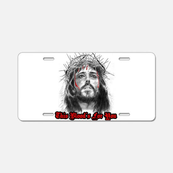 Unique Jesus Aluminum License Plate