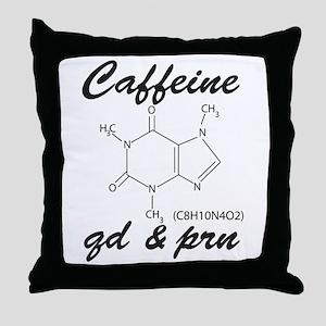 Caffeine QD and PRN Throw Pillow