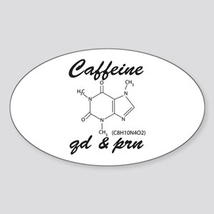 Caffeine QD and PRN Sticker (Oval)
