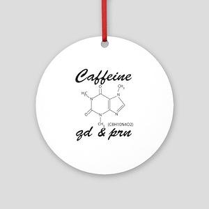 Caffeine QD and PRN Ornament (Round)