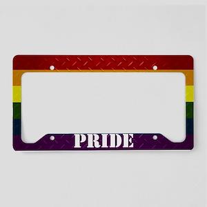 Pride Diamond Plate License Plate Holder