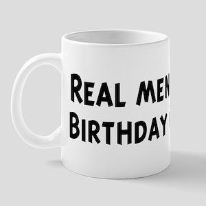 Men eat Birthday Cake Mug